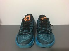 2271df50044 New Nike KD 8 VIII Blue Orange Basketball OKC Thunder Durant 749375-480 Sz  11.5