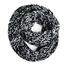 Marled Knit Infinity Scarf