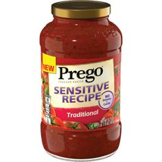 Prego Sensitive Recipe Italian pasta sauce is a flavorful sauce made without onions or garlic for those with digestion issues and food sensitivities. Find product info, where to buy, and more. Pasta Sauce No Sugar, Pasta Recipes, Beef Recipes, Fodmap Recipes, Pasta Sauces, Dehydrated Onions, Savory Herb, Healthy Sauces, Italian Pasta