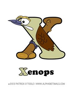 Xenops - Alphabetimals make learning the ABC's easier and more fun! http://www.alphabetimals.com