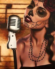 Daniel Esparza - day of the dead - Dia De Los Muertos - sugar skull make up inspiration - love the simplicity of this