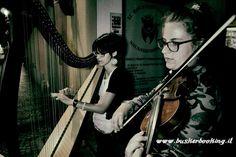 Baladin Busker Festival 2017 - 21 luglio - Duo Flidais (Alessia Musso all'arpa e Caterina Alifredi al violino).
