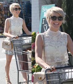 Julianne Hough Shows Off Her New Pixie Cut in a Sheer Lace Top Have you seen Julianne Hough's new hairdo? She has recently joined the ranks of Emma Watson, Jennifer Lawrence, Michelle Williams, and Shailene Woodley, wh Older Women Hairstyles, Pixie Hairstyles, Trendy Hairstyles, Brunette Hairstyles, Braided Hairstyles, Wedding Hairstyles, Pixie Haircuts, Updos Hairstyle, Everyday Hairstyles