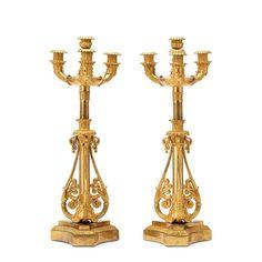 Par de candelabros Franceses Louis Philippe do sec.19th em bronze gilded a ouro, 60,5cm de altura, 23,940 USD / 21,530 EUROS / 86,420 REAIS / 157,140 CHINESE YUAN soulcariocantiques.tictail.com