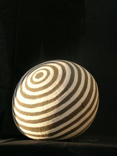 Ceramic Ball 3 Black & White Stoneware Clay