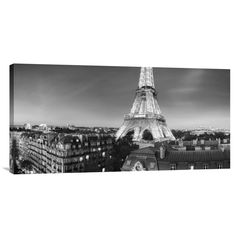 Bentley Global Arts 'The Eiffel Tower and Surrounding Buildings' by Paul Hardy Photographic Print on Canvas