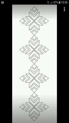 Hand Embroidery Design Patterns, Geometric Embroidery, Hand Embroidery Tutorial, Flower Embroidery Designs, Stencil Patterns, Hand Embroidery Patterns, Beaded Embroidery, Embroidery Stitches, Machine Embroidery