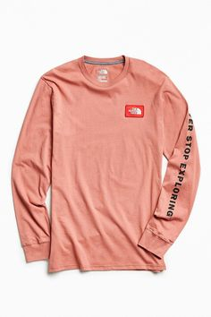 dc2b0f95591 The North Face x UO Men s Patch Long Sleeve Blue Fashion