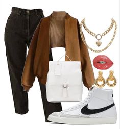 Swag Outfits For Girls, Teenager Outfits, Teen Fashion Outfits, Cute Casual Outfits, Casual Chic, Paris Outfits, Fall Outfits, Nike Free Outfit, Fashion Competition