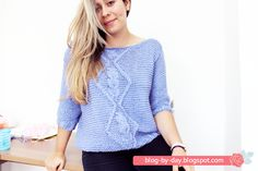 Sweater com Trançado em Tricô :: Passo a Passo e Video