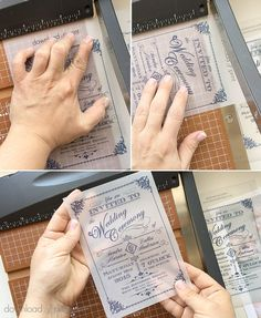 Trim the DIY vintage wedding invitation printed on vellum | Download & Print