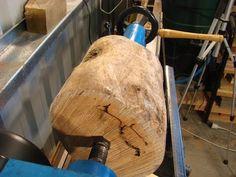 76 Turning firewood into an $80 Vase - YouTube