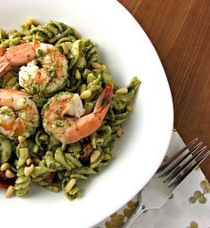 Put your basic pasta salad to shame! This delicious Spinach, Shrimp, & Mascarpone Pasta Salad is a creamy, refreshing spin on the classic bbq side dish!