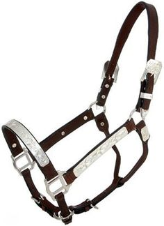 Royal King Raised Star Show Halter & Lead Set by Royal. $74.95. From Royal King A great choice for young and older exhibitors alike! This doubled and stitched show halter is constructed with supple, hand rubbed bridle leather and is finished with engraved silverplate bars, buckles, and trim spots with a raised star design. This quality halter features double crown and and triple nose adjustment. Price with matching leather lead. Yearling and Horse Dark Oil