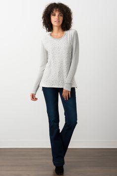 Suzy Shier Lace Grey Hoodie