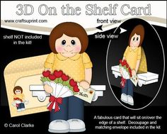 3D On the Shelf Card Kit Kira s Flowers for Mom on Craftsuprint - View Now!