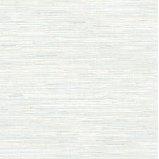 "For Your Bath III 33' x 20.5"" Faux Grasscloth Wallpaper Roll"