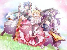 Tags: Fanart, Vocaloid, Wallpaper, Kagamine Len, KAITO, Kamui Gakupo, Pixiv, Haru Aki, VanaN'Ice, Scl Project, Natsu-p, Sakura Maichirinu -Rei-