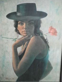 Vintage S Pearson Print Oh Manuella Spanish Girl Tretchikoff Era Pimlico Townsville City image 1