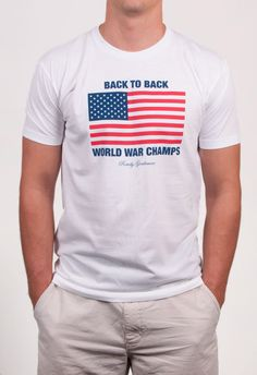 966ee5fc We just realized that we somehow never released this design on a classic  front tee shirt. Rowdy Gentleman · Back To Back World War Champs