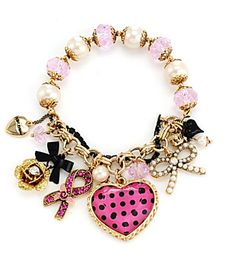 I Heart The Bracelet for style but the Breast Cancer Awareness attachment is an added perk!