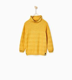 SWEATER WITH WRAPAROUND TURTLENECK