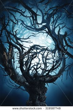Ambesonne Halloween Gym Bag Large Weekender Carry-on Spooky Tree