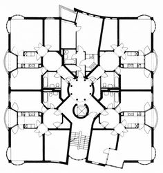 Hans Hollein, Rauchstrasse, House 8, Plan, IBA Apartment Building, Berlin, Germany, 1983