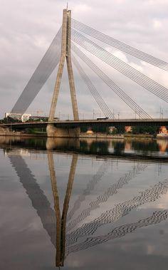 Bridge reflection, Riga, Latvia