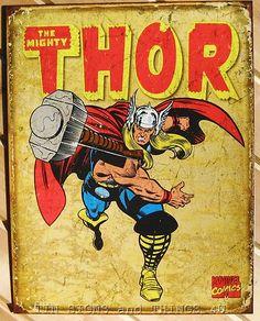 Captain America Retro Panels TIN SIGN vtg metal decor marvel comic poster 1736
