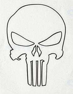 C&D Visionary Punisher Skull Outline 4 Rub-On Balck Punisher Skull Tattoo, Punisher Logo, Punisher Marvel, Knuckle Tattoos, Skull Tattoos, Sleeve Tattoos, Dragon Tattoos, Logo Outline, Tattoo Outline