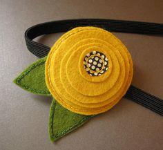 Mustard Blooming Flower - felt headband | Amy | Flickr