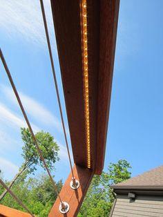 Northcape Design/Build traditional exterior - strip LEDs under deck rails.