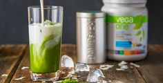 Beat the heat in the best possible way with a decadent Matcha Coconut Vega One Frappe.