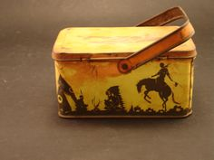 Antique Child's Tin Lunch Box