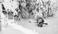 Finnish rifleman, Winter War - that Winter, temperatures dropped down to -40 Celsius, and thousands of Soviets froze to death along with their vehicles.the Soviets were surprised by the Finnish Winter of 1939-40. For example, Soviet vehicles were winterized for temperatures down to -20F, which was normally adequate for that region.