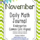 The November Daily Math Journal is Common Core aligned to Kindergarten curriculum. It includes 21 days of spiral review over the following Common C...