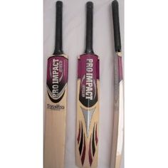 Pro Impact Practice Tennis Ball Cricket Bat, Full Adult Size