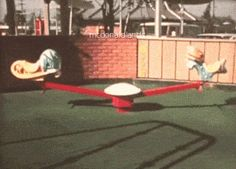 THE MCDONALDLAND TEETER TOTTER || This clip shows what is basically a display on how the mechanism worked. I created this GIF from the rare McDonaldland Promotional Video. In the 16mm 12-minute industrial film from 1972, Setmakers shows off the large line of park-like attractions they could build and install to attract customers to McDonald's using the setting of the 1971 opening for the very first Playland in Chula Vista, California.