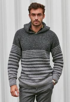 Sweatshirt Mens Knit Jumper Winter Men Retro New Top Warm Boys Sweater