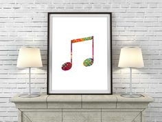 REPIN NOW for later! Music Note Wall Art Printable Patterned Music Note Poster Colorful Musician Room Decor Music Home Decor Music Notes Print Digital Download by DigartDesigns on Etsy