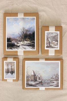 Give presents an artful touch with vintage painted images