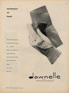 Dawnelle gloves ad, 1947.