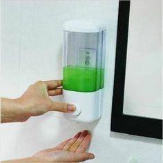 Le distributeur de savon mural, il est facile à passer d'une presse à main légèrement  Le distributeur de savon est facilement fixe dans la salle de bains, très pratique  Approprié pour une variété de visqueux liquides, tels que gel douche, shampoi