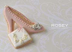 glam shoe cookie