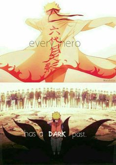 Every hero has a dark past, quote, text, Uzumaki Naruto, Seventh Hokage, alone, Nine Tails, Jinchuuriki, sad, crying, young, childhood; Naruto