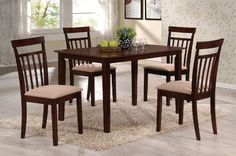 Acme 70325 5Piece Samuel Dining Set Espresso Finish * Learn more by visiting the image link.Note:It is affiliate link to Amazon.