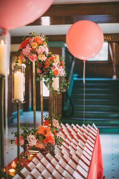 #blisschicago #weddings #pinkandorange #namecards #candlesandroses Table Cards, Card Tables, Sand Candles, Bridal Shower Cards, Wedding Decorations, Table Decorations, Luxury Wedding Invitations, Tall Vases, Wedding Place Cards