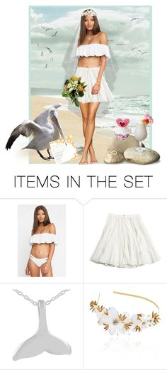 """Sea, Sand and ""I Do""!"" by krusie ❤ liked on Polyvore featuring art"