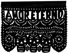 Original Paper Cutting Amor Eterno Love Forever Papel Picado - Wedding Anniversary Engagement COLOR CHOICE. $15.00, via Etsy.